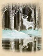 Arctic Winter Quarter Page Stock Art Spirit Elk