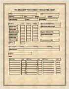 The Magic Realm Character sheet
