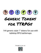 144 Generic Tokens for TTRPGs