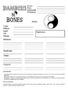 Bamboo n' Bones - Feuille de personnage