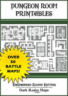 Dungeon Room Printables - 1 inch (25 cm) Battle Maps - Book 1