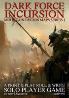 Dark Force Incursion Mountain Region Maps Series 1 - 5 Maps