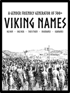 A gender friendly generator of 300+ Viking names