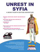 Unrest in Syfia - Adventure Scenario (BESM Fourth Edition)