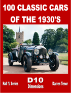 100 Classic Cars of the 1930's
