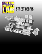 15mm Cyberpunk Scifi City Street Debris 3D Files