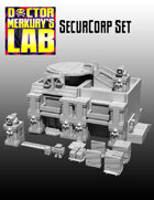 15mm Cyberpunk Scifi City SecurCorp Terrain Pack  3D Files