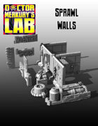 15mm Cyberpunk Scifi City Sprawl Walls Pack  3D Files
