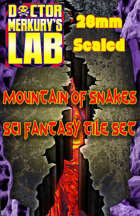 28mm Scale 1980's Mountain of Serpents Tiles