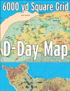 D-Day Map with 6000 yard Square Grid