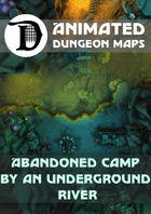 Animated Dungeon Maps: Abandoned Camp by an Underground River
