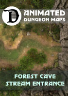 Animated Dungeon Maps: Forest Cave Stream Entrance