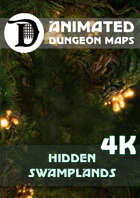 Animated Dungeon Maps: Hidden Swamplands 4K
