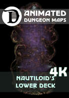 Animated Dungeon Maps: Nautiloid's Lower Deck 4k