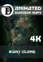 Animated Dungeon Maps: Ruins Island 4k