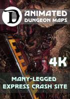 Advanced Animated Dungeon Maps: Many-Legged Express Crash Site 4k
