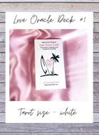 Island Time Wellnesss Love Oracle Cards 1 Tarot Size White With Black Text