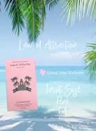 Law of Attraction 1 R (Retro Pink/Tarot Size) 54 Cards (Full Deck/No Blank Cards) by Island Time Wellness