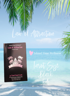Island Time Wellness Law of Attraction Tarot Size Black With White Text - 54 Cards + 26 Black = 80