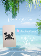 Law of Attraction - Tarot Size - White With Black Text - 54 + 26 Cards = 80 Cards