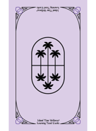 Island Time Wellness Learning Tarot Cards | Purple | Palm Back | Tarot Size