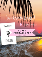 PDF | Island Time Wellness Love Oracle Cards 1 | Print and Play PDF | Text Only | No Graphics
