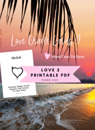PDF | Island Time Wellness Love Oracle Cards 2 | Print and Play PDF | Text Only | No Graphics