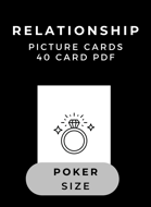 Island Time Wellness Relationship Picture Cards PDF | Poker Size | 40 Card PDF File