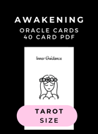 Island Time Wellness Awakening Oracle Cards PDF | Tarot Size | 40 Card Deck | Both US Letter + A4 (Europe) Paper Sizes Included