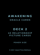 Relationship Picture Cards PART 2 of Awakening Oracle Cards | Poker Size | 40 Card Deck | ADD DECK BOX