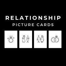 Relationship Picture Cards PDF | Poker Size