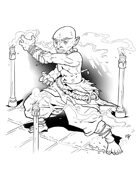 Spot Art - Halfling Monk - RPG Stock Art