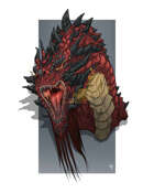 Spot Art - Ancient Red Dragon - RPG Stock Art