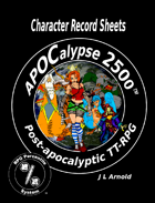 APOCalypse 2500™ Character Record Sheets