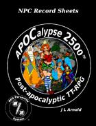 APOCalypse 2500™ NPC Record Sheets