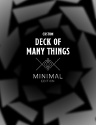 Custom Deck of Many Things - Minimal Edition