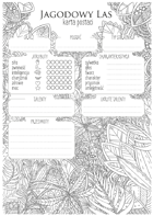 Jagodowy Las - Karty postaci i dodatki