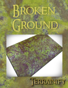 """Broken Ground"" Gaming Mat 3' x 3'"
