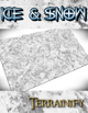 Ice and Snow Gaming Mat 6x4