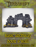 Ancient Ruins: Basic Archway Door Wall