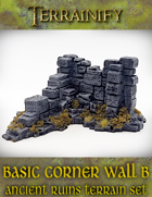Ancient Ruins: Basic Corner Wall B