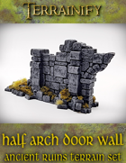 Ancient Ruins: Half Arch Door Wall