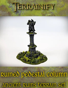 Ancient Ruins: Ruined Column Pedestal