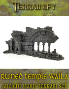 Ancient Ruins: Ruined Temple Wall A