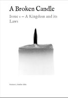 A Broken Candle Issue 1 - A Kingdom and its Laws