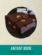 Ancient Book Stock Art – Line Art + Color – Spot