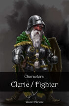 Character stock art: Dwarven Cleric / Fighter