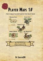 Adventure Bundle 1# Printable Player Maps