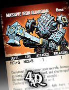 Massive Iron Guardian - Boss Card