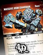 Massive Iron Guardian - Boss Card